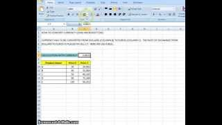 00004 - How To Convert Currency Using Microsoft Excel