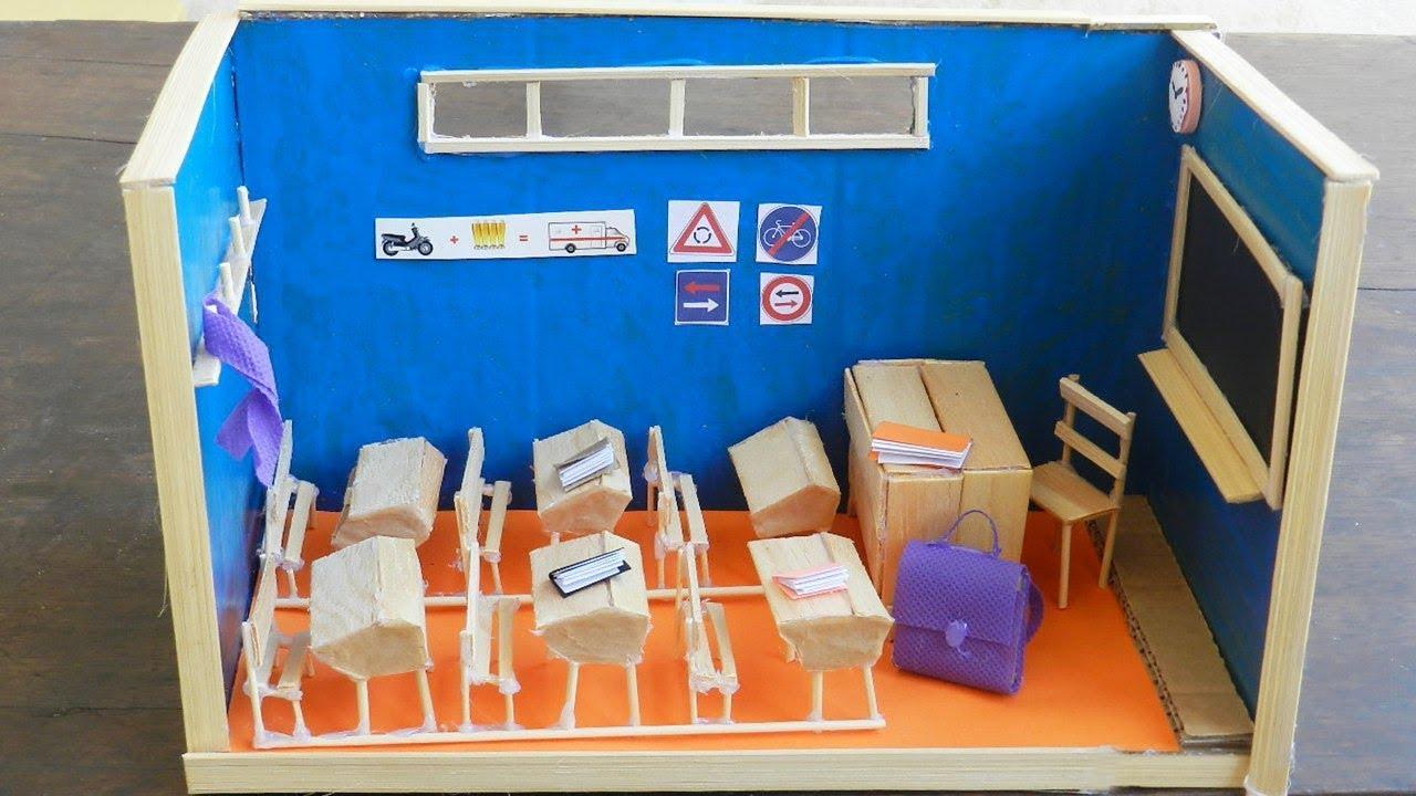 Classroom Equipment Ideas : Cute miniature classroom and school supplies dollhouse