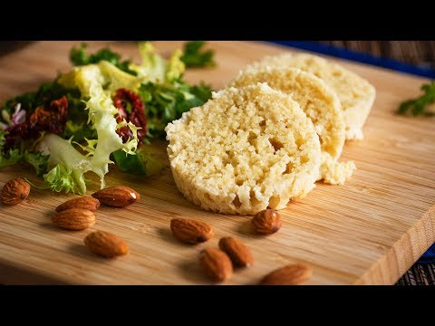 HOW TO MAKE ALMOND BREAD IN 5 MINUTES low carb! & gluten free