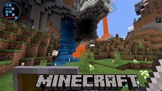 hindi-minecraft-gameplay-making-lava-amp-water-fall-sky-line-base-2