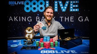 Tom Hall Wins 888Live in London Main Event!
