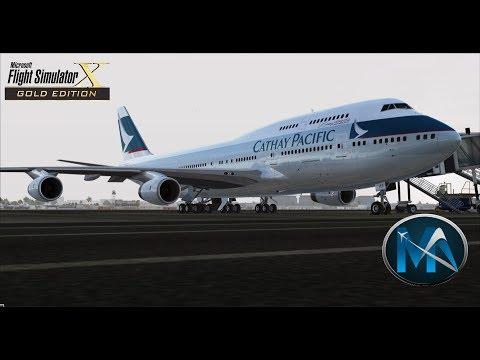 FSX - VOO DE DUBAI PARA HONG KONG (OMDB-VHHH) - BOEING 747 400 CATHAY PACIFIC