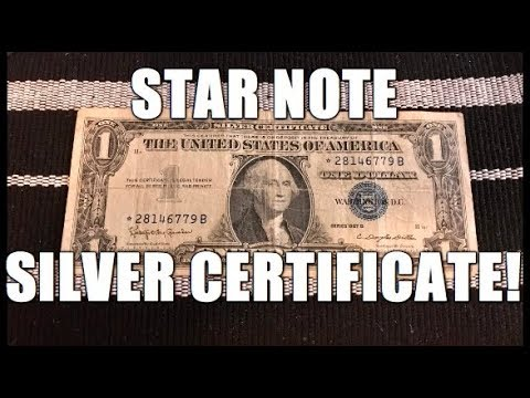 1957 B Star Note Silver Certificate Bank Note! Plus I Am Going To Do A Giveaway!