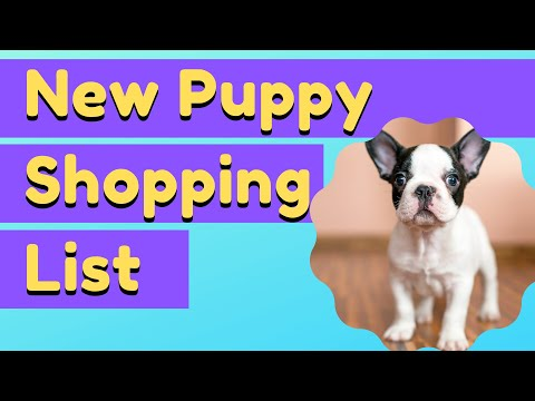 New Puppy Shopping List