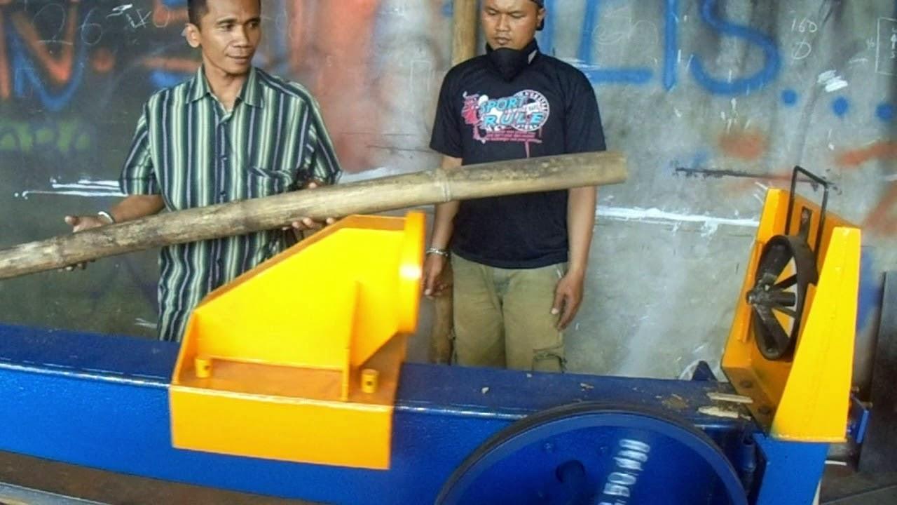 Mesin Pembelah Bambu Youtube Ayakan Baglog