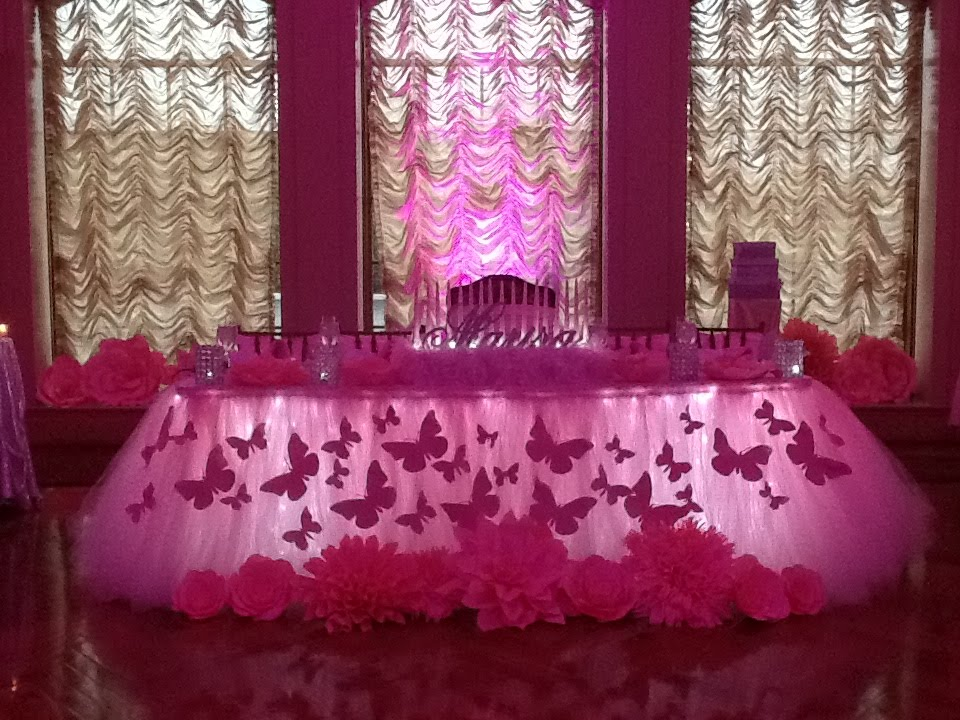 Pink Butterfly Themed Sweet 16 at The Larkfield Manor ...