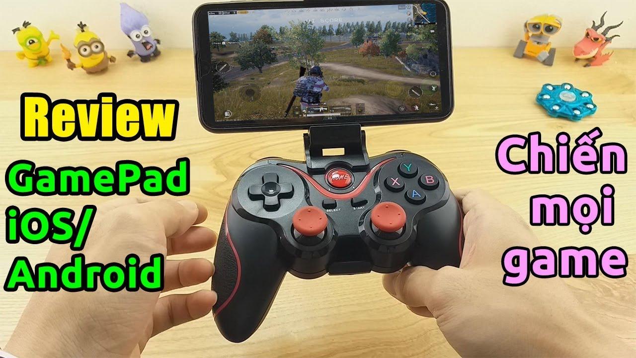 Tay cầm Gamepad này chiến được mọi game iOS, Android, TV Box, PC… Gamepad Terios T3