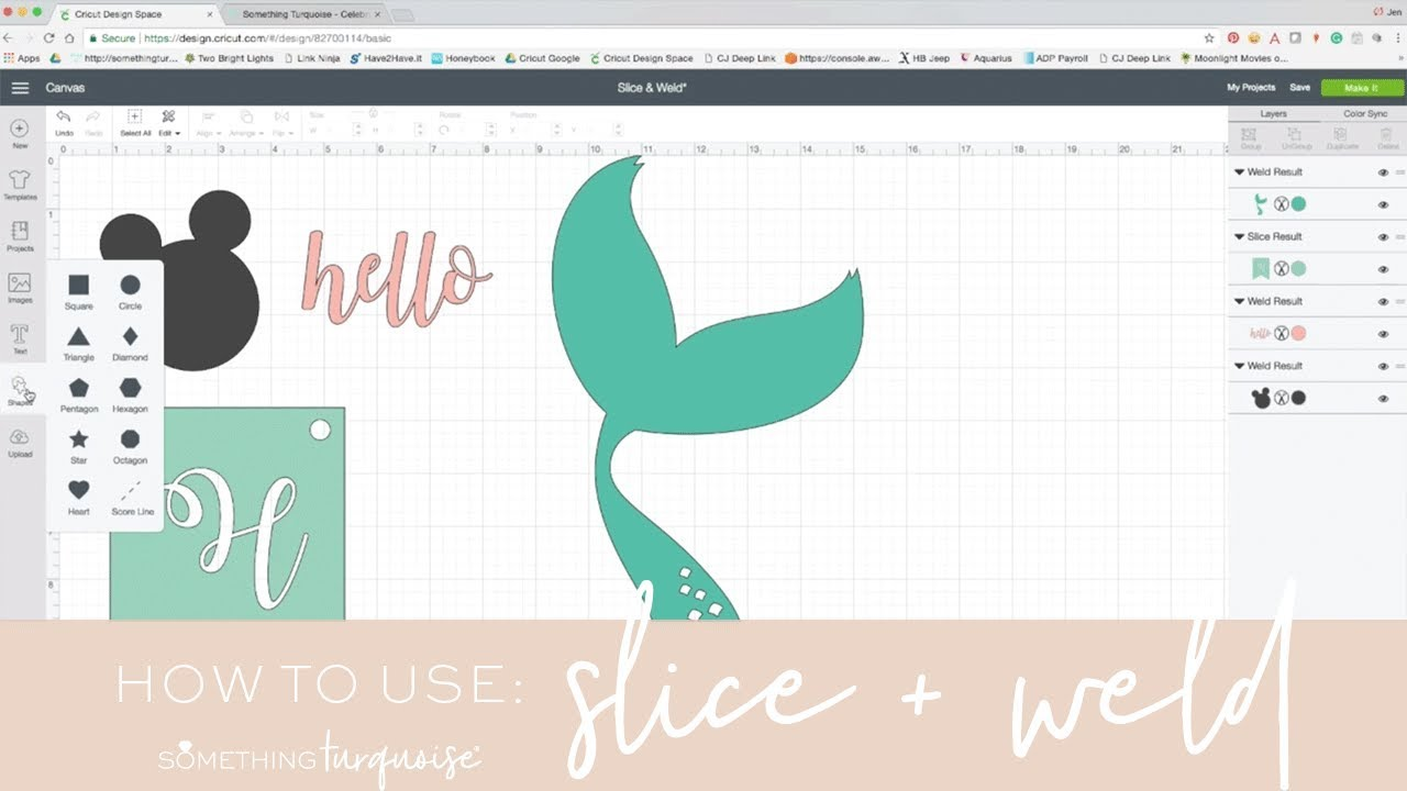 How to Use Slice and Weld in Design Space | Cricut