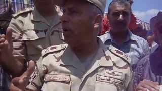 اللواء كامل الوزير فى مواقع اللحفر أغسطس 2014