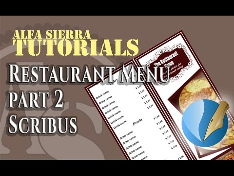 How to create a Restaurant menu in scribus - Part 2