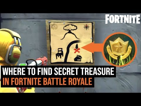 Where To Find The SECRET Treasure map In Fortnite: Battle Royale Season 3 | Dusty Depot Challenge