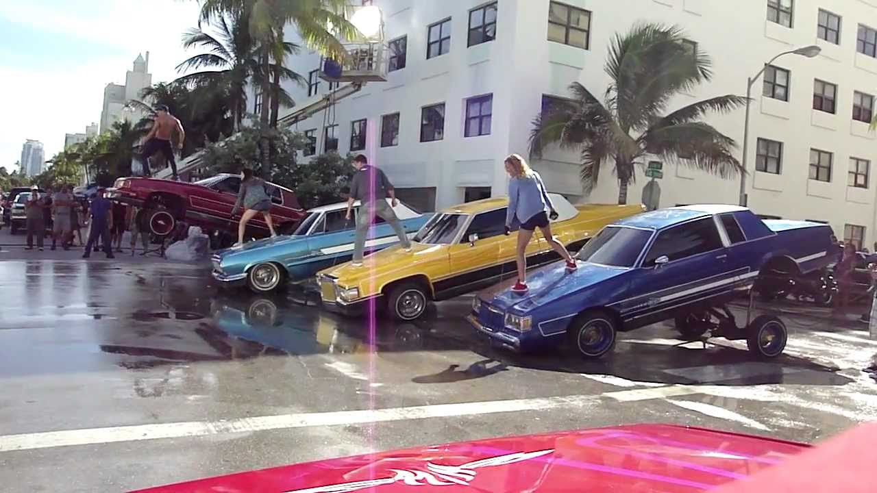 Lowrider Miami >> Step Up 4 filming in South Beach....lowriders 2 - YouTube