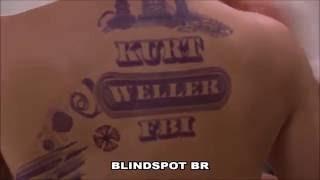 Colocando as tatuagens (Jaimie Alexander - Jane Doe)
