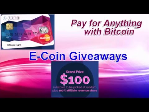 New Year 2016 190$ Giveaways  E Coin Bitcoin Card Pay For Anything With Bitcoin