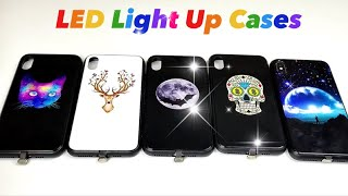 """iPhone X / XS Max LED Light Up Cases """"Music-Activated Flashing Cases"""""""