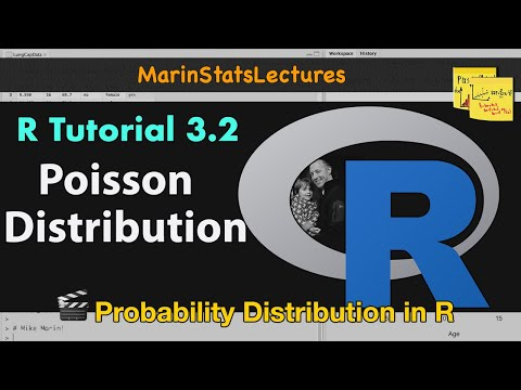 Poisson Distribution In R | R Tutorial 3.2 | MarinStatsLectures