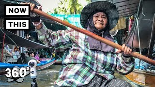 Floating Market Bangkok Thailand (360 TOUR) | Unframed by Gear 360 | NowThis