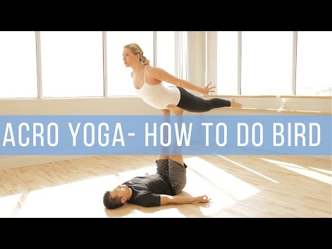 Beginner Acro Yoga: How to Base and Fly Front Plank and Bird