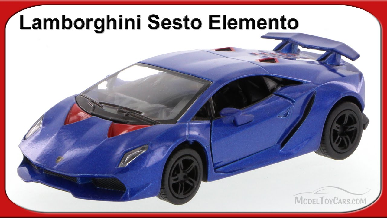 Lamborghini Sesto Elemento Blue Kinsmart 1 38 Scale Youtube