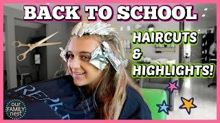 BACK TO SCHOOL HAIRCUTS & HAIR COLOR!