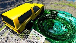 Beamng Drive - Car Falls Into Fish Vortex #2 | BeamNG-Destruction