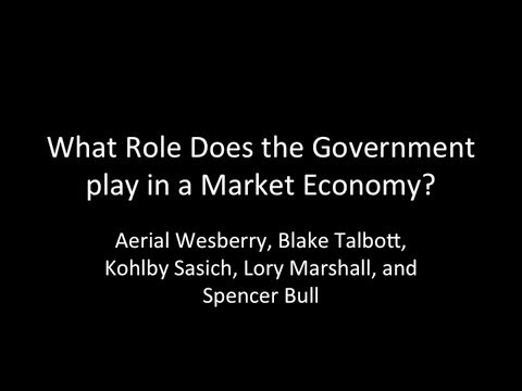 Government's Role In Market Economy