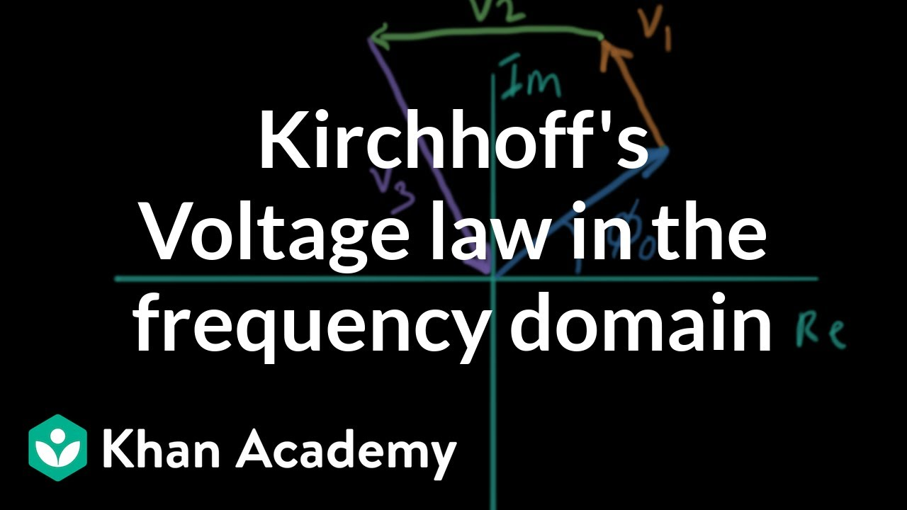 KVL in the frequency domain (video)   Khan Academy