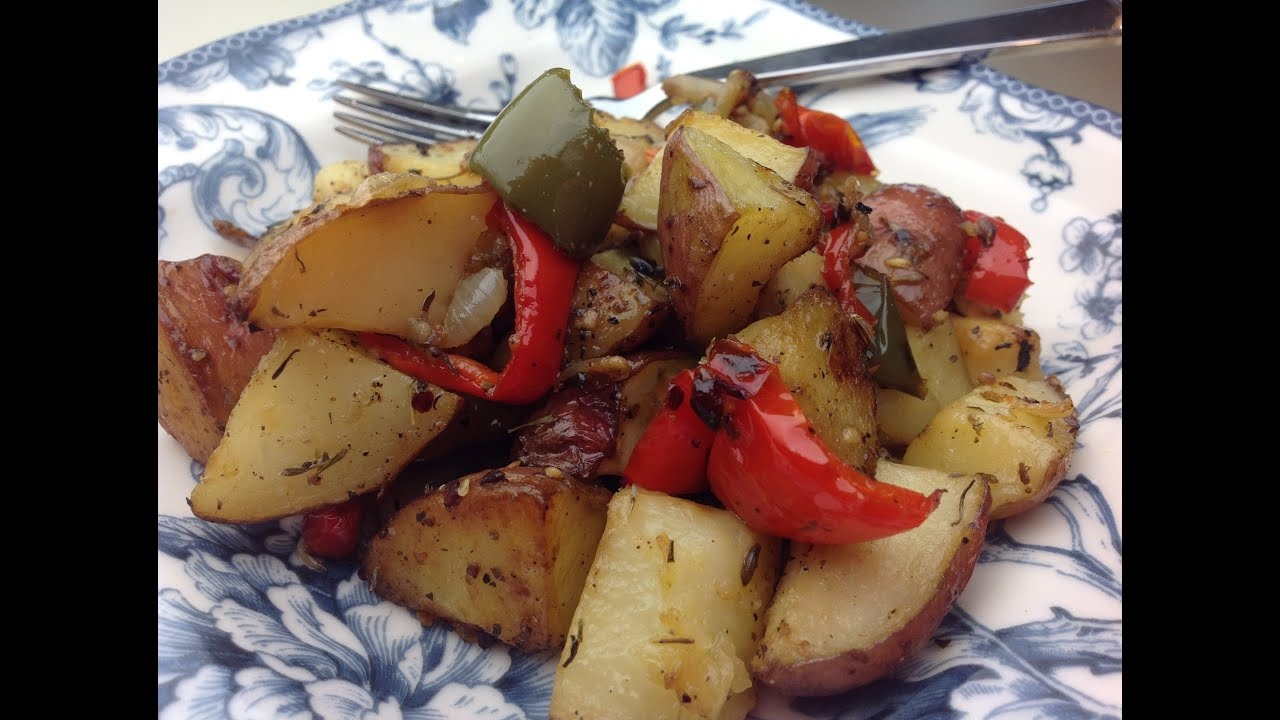 Eric S Roasted Red Potatoes With Bell Pepper And Onion Youtube