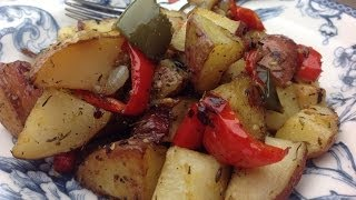 Eric's Roasted Red Potatoes With Bell Pepper And Onion