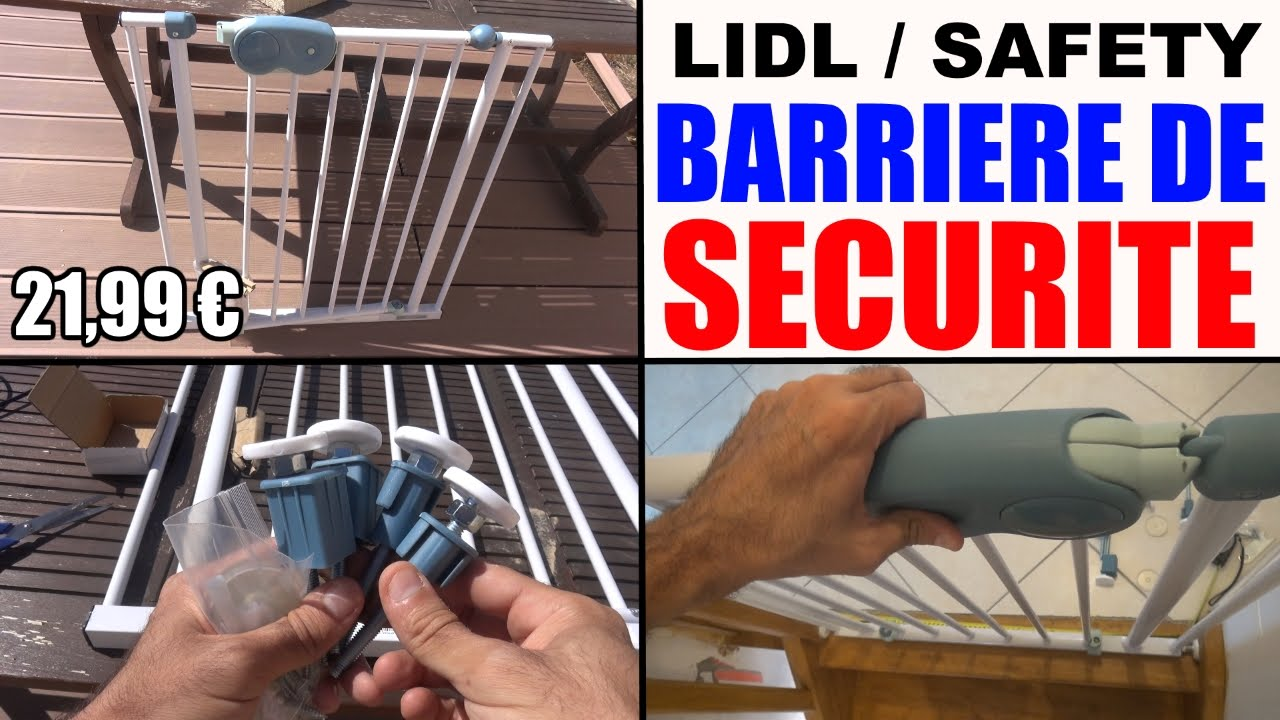 Barriere Securite Lidl Pour Enfant Quick Close Safety 1st Youtube