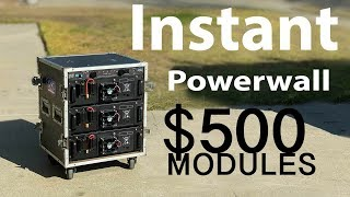 California Blackouts? build Instant Portable  Powerwall - $500 ESS Rack Mount Battery Modules