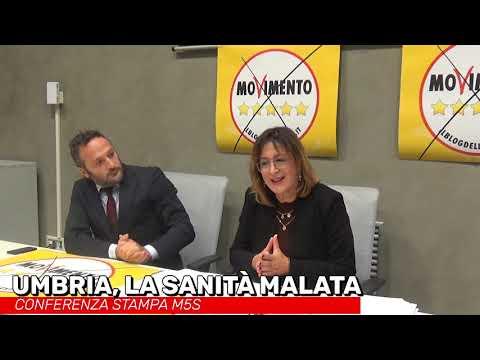 Umbria, sanità malata. Conferenza Stampa M5S, Maria Grazia Carbonari e Andrea Liberati