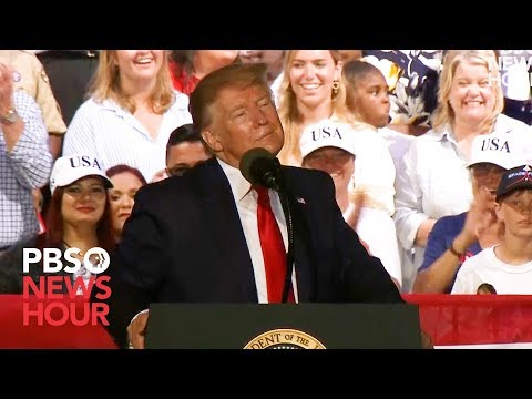 """WATCH: Trump asks what to do about migrants crossing border. Rallygoer suggests """"shoot them"""""""