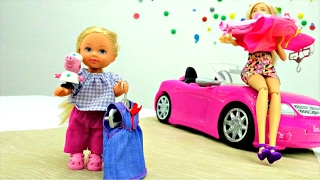 Барби и Штеффи в магазине. Платья для Барби. Одевалки