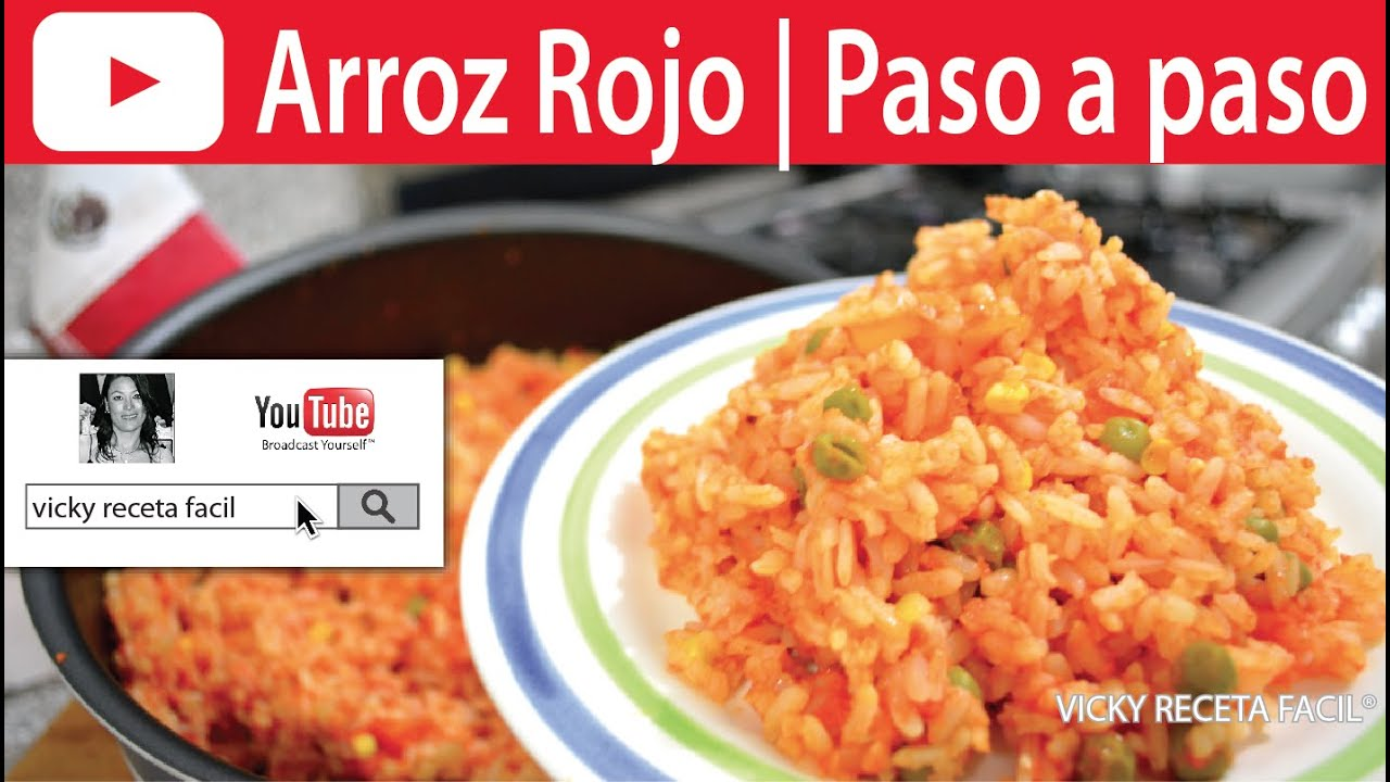 Arroz rojo vicky receta facil youtube for Como se prepara el arroz