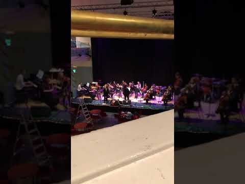 City of Edinburgh Music School pupils rehearse for the Christmas Wingding