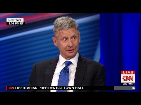 CNN's Libertarian Town Hall with Gary Johnson & Bill Weld