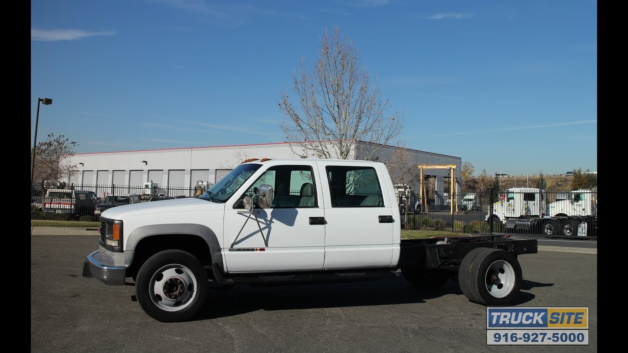 1995 Gmc 3500hd Crew Cab Amp Chassis For Sale By Truck Site