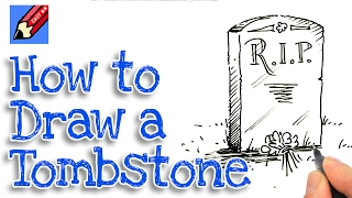 How to draw a Tombstone Real Easy - Spoken Tutorial