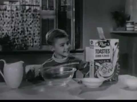 Vintage 1950s Post Toasties Little Boy With An Appetite Bigger