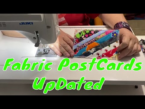 How to Sew a Fabric Postcard - Updated Version