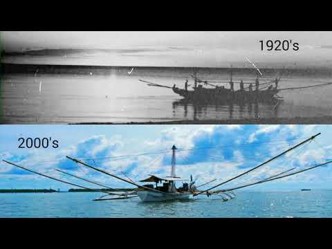 Double Outrigger Tapay-tapay Fishing Boat - Then And Now