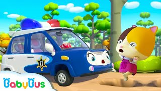 Police Car Rescue Team | Fire Truck, Tractor, Ambulance | Cars for Kids | Kids Songs | BabyBus
