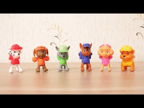 Paw patrol. Toys.Щенячий патруль  игрушки. Учим цвета. Игрушки из мультфильма.
