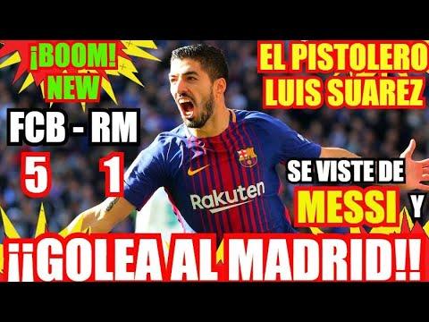 ¡¡EL BARCELONA HUMILLA AL REAL MADRID 5 - 1 !! ¡EL CLASICO! FC BARCELONA NOTICIAS