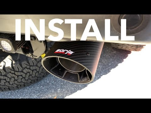 Borla Intercooled Carbon Fiber Tips Install