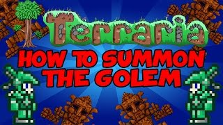 "Terraria: How To Summon ""The Golem"" (Terraria 1.2)"