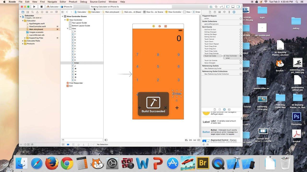 iOS Programming Swift Tutorial #2: Calculator iPhone App Tutorial with  Xcode 6