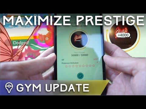 HOW TO USE THE NEW GYM TRAINING SYSTEM FOR MAX PRESTIGE (Pokémon GO)