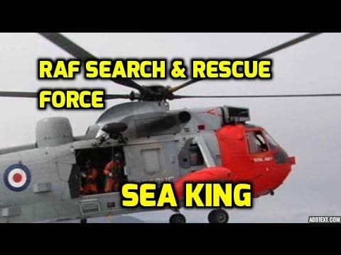 Sikorsky Sea King: S-61 Take-Off / Fly-by / Sea Rescue / Departure! BEAUTIFUL!!!